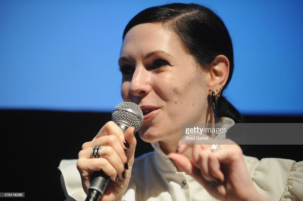 Author Jill Kargman speaks on stage during Vulture Festival And Bravo Present Screening Of 'Odd Mom Out' at Tribeca Cinemas on May 31 2015 in New...