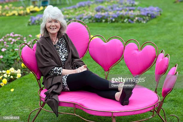 Author Jilly Cooper poses for a portrait at the Cheltenham Literature Festival on October 9 2010 in Cheltenham England