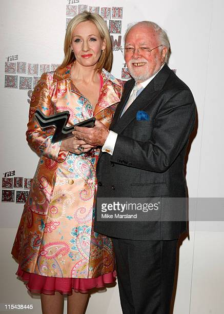 Author JK Rowling and Sir Richard Attenborough pose during the South Bank Show Awards 2008 held at The Dorchester on January 29 2008 in London England