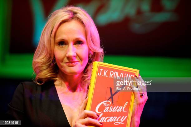 Author JK Rowling attends photocall ahead of her reading from 'The Casual Vacancy' at the Queen Elizabeth Hall on September 27 2012 in London England