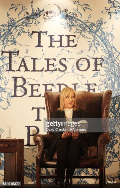 Author JK Rowling reads extracts from her new book to around 200 schoolchildren today at Edinburgh's Parliament Hall