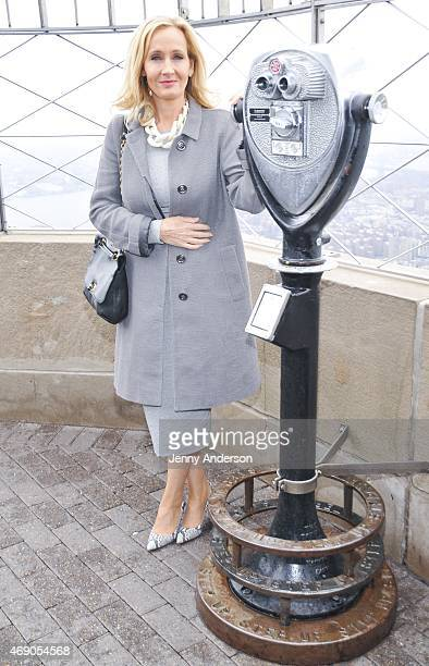 Author JK Rowling visits the Empire State Building on April 9 2015 in New York City