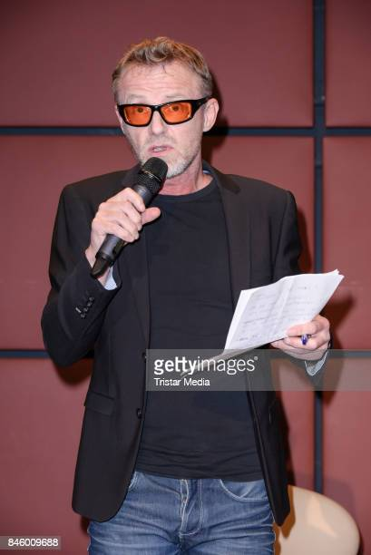 Author Jo Nesbo during the 'Aha' Press Conference of MTV Unplugged Summer Solstice at Nordische Botschaften on September 12 2017 in Berlin Germany