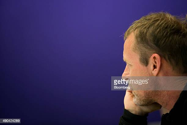 Author Jo Nesbo listens to a question during an interview in New York US on Wednesday May 14 2014 Nesbo worked days as a stockbroker and nights and...