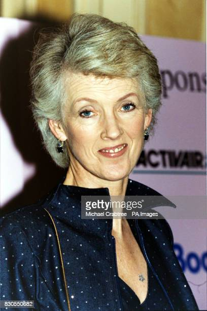 Author Joanna Trollope at the London Hilton for the British Book Awards 2000 21/3/01 The Queen was meeting Aga saga novelist Trollope during the...