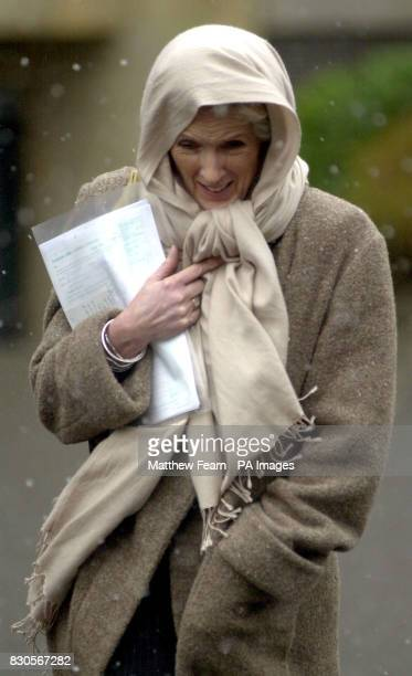 Author Joanna Trollope leaves Winchester Crown Court after giving evidence in the case against Melanie Cangardel who is accused of attempting to...