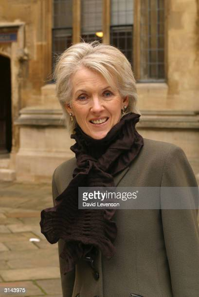 Author Joanna Trollope poses for a portrait at the annual 'Sunday Times Oxford Literary Festival' held at the Bodleian Libray on March 26 2004 in...