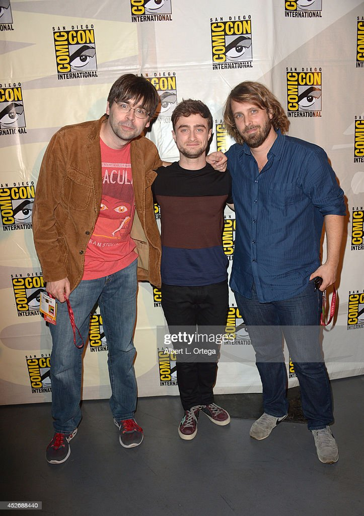 Author Joe Hill, actor <a gi-track='captionPersonalityLinkClicked' href=/galleries/search?phrase=Daniel+Radcliffe&family=editorial&specificpeople=204144 ng-click='$event.stopPropagation()'>Daniel Radcliffe</a> and director <a gi-track='captionPersonalityLinkClicked' href=/galleries/search?phrase=Alexandre+Aja&family=editorial&specificpeople=834975 ng-click='$event.stopPropagation()'>Alexandre Aja</a> attend the Sony Pictures presentation during Comic-Con International 2014 at San Diego Convention Center on July 25, 2014 in San Diego, California.
