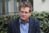 Author John Green attends the 'The Fault In Our Stars' reunion and 'Amsterdam' bench dedication ceremony at Fox Studio Lot on November 20 2014 in...