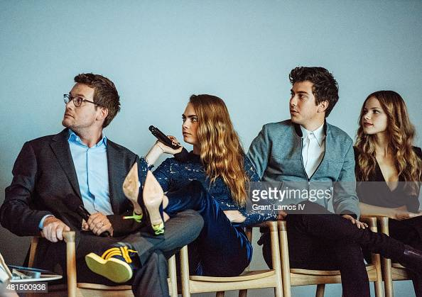Author John Green Cara Delevingne Nat Wolff and Halston Sage attend attend the Meet the Filmmaker Jake Schreier John Green Cara Delevingne and Nat...