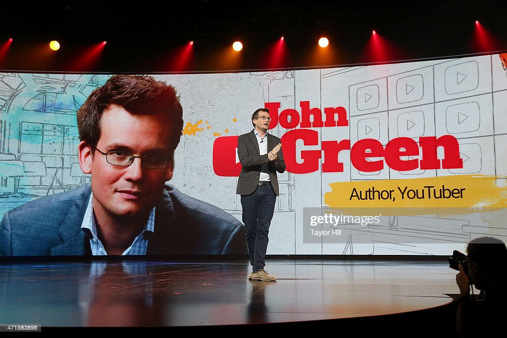 Author John Green speaks at YouTube #Brandcast presented by Google at The Theater at Madison Square Garden on April 29 2015 in New York City
