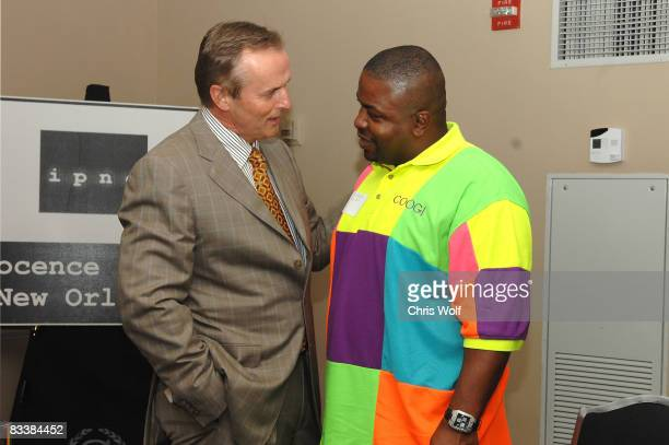 Author John Grisham meets exonerated men at the Innocence Project fundraiser at the Armstrong Ballroom in the Sheraton New Orleans on October 21 2008...