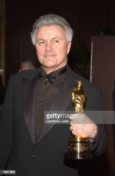 Author John Irving arrives at the official Academy of Motion Picture Arts Sciences Oscar Night Viewing Party at Le Cirque 2000 restaurant March 23...