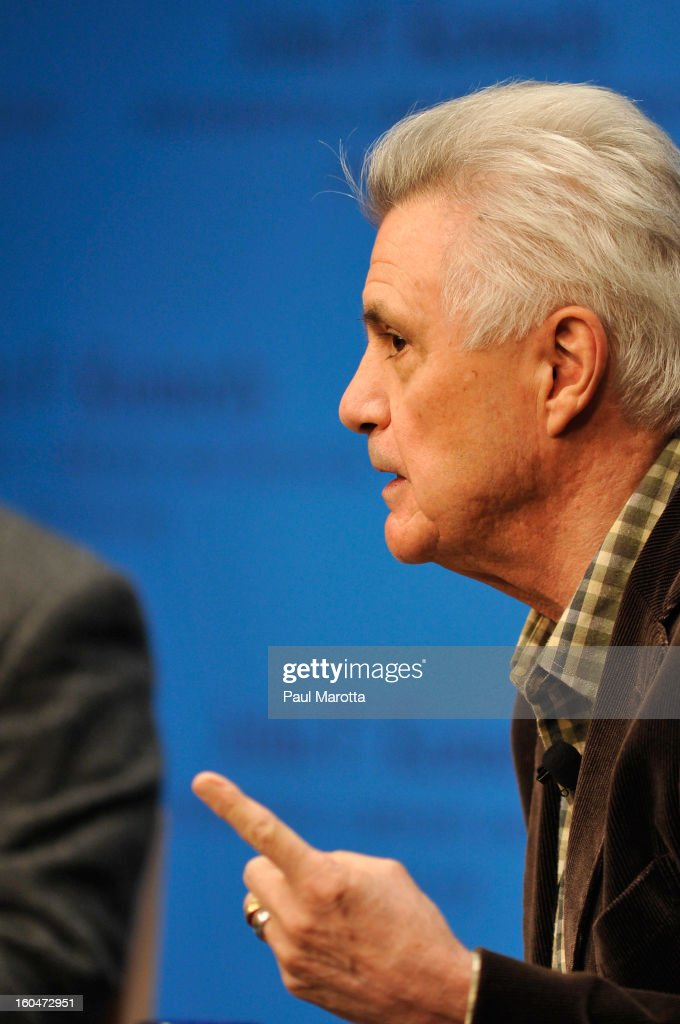 Author John Irving discusses his latest novel 'In One Person' at The John F. Kennedy Presidential Library And Museum on January 31, 2013 in Boston, Massachusetts.