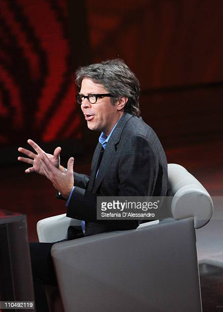 Author Jonathan Franzen appears on 'Che Tempo Che Fa' TV show on March 20 2011 in Milan Italy