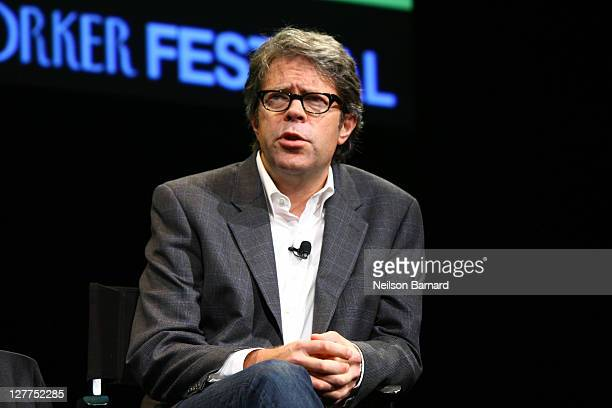Author Jonathan Franzen speaks on stage during The 2011 New Yorker Festival Jonathan Franzen talks with David Remnick at Acura at SIR Stage37 on...