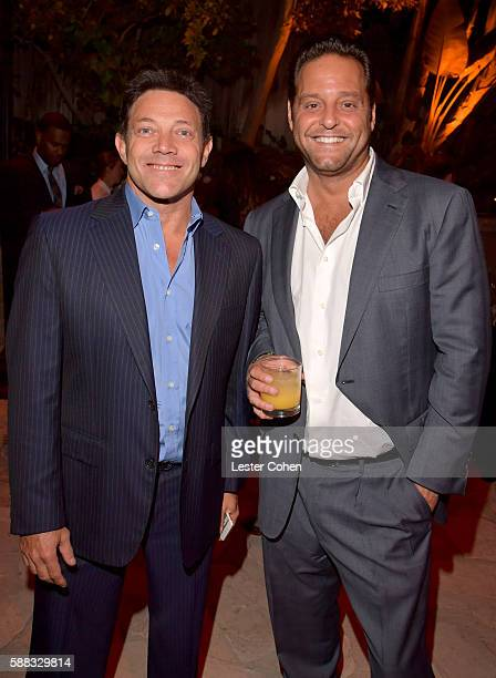Author Jordan Belfort and guest attend the special event for UN SecretaryGeneral Ban Kimoon hosted by Brett Ratner and David Raymond at Hilhaven...