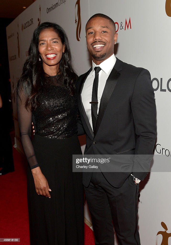 Author Judy Smith and actor Michael B Jordan attend the 2014 ADCOLOR Awards at The Beverly Hilton Hotel on September 20 2014 in Beverly Hills...