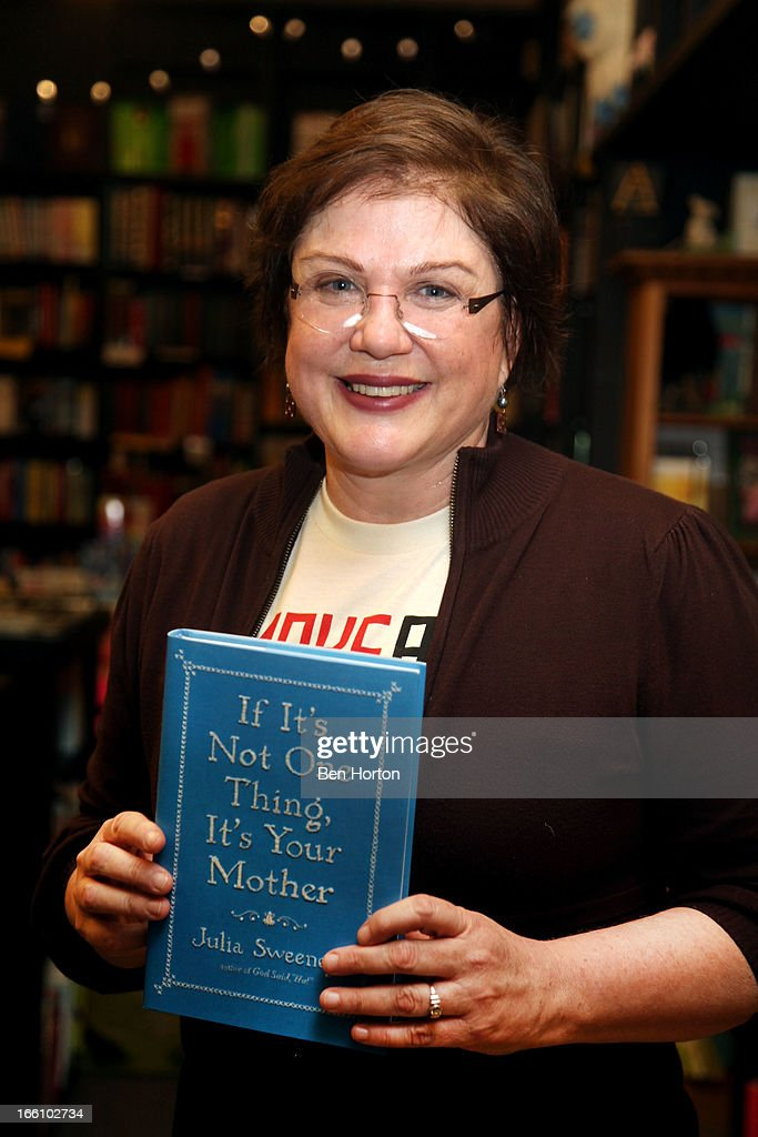 Author Julia Sweeney at a book signing for her new book 'If It's Not One Thing, It's Your Mother' at Book Soup on April 8, 2013 in West Hollywood, California.