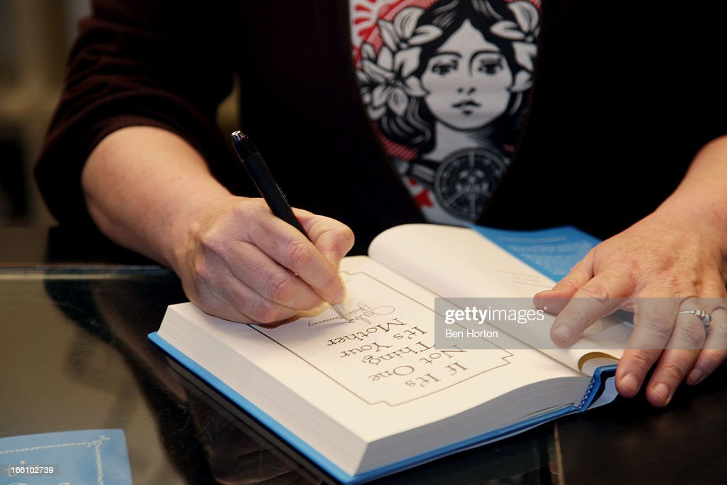 Author Julia Sweeney signs copies of her new book 'If It's Not One Thing, It's Your Mother' at Book Soup on April 8, 2013 in West Hollywood, California.