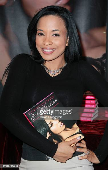 Author Karrine Steffans attends a party and signing for her book 'SatisFaction' at Hustler Hollywood on August 5 2011 in West Hollywood California