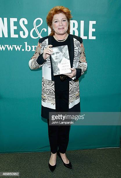 Author Kate Mulgrew signs copies of 'Born With Teeth' at Barnes Noble Union Square on April 15 2015 in New York City