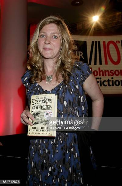 Author Kate Summerscale celebrates winning the BBC Four Samuel Johnson Prize for NonFiction awards at the South Bank Centre London SE1