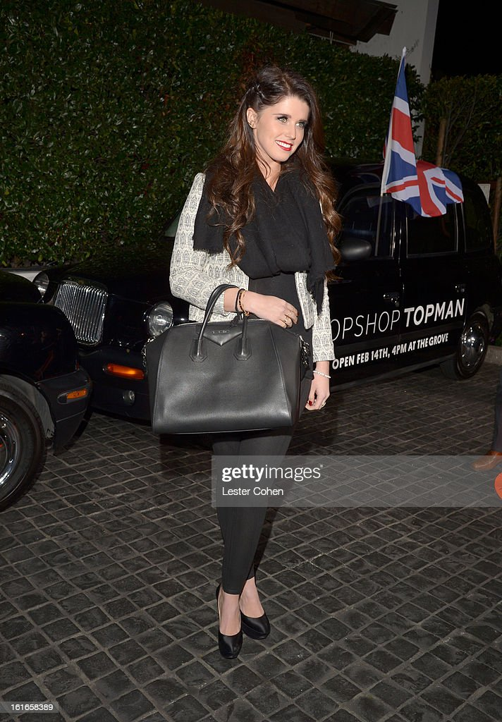 Author Katherine Schwarzenegger arrives at the Topshop Topman LA Opening Party at Cecconi's West Hollywood on February 13, 2013 in Los Angeles, California.