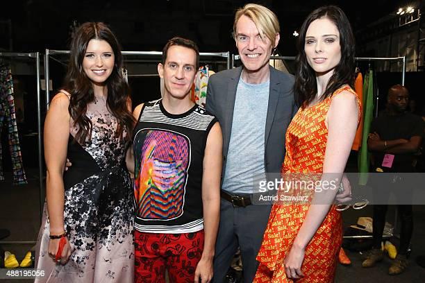 Author Katherine Schwarzenegger Fashion Designer Jeremy Scott Neiman Marcus Fashion Director Ken Downing and Fashion Model Coco Rocha with Kagome...