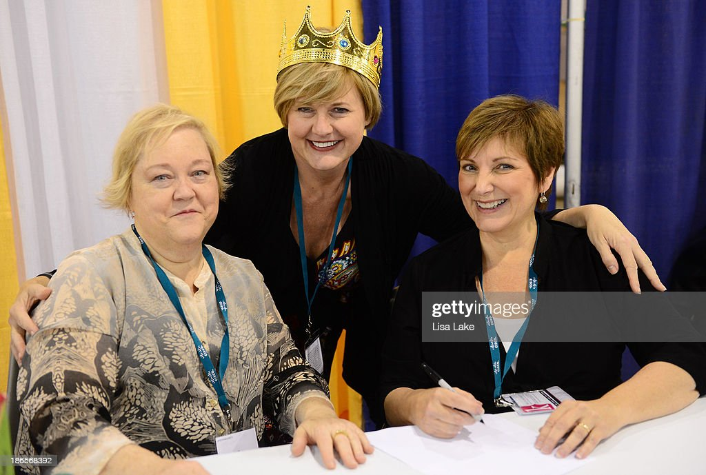 Author <a gi-track='captionPersonalityLinkClicked' href=/galleries/search?phrase=Kathy+Kinney&family=editorial&specificpeople=236078 ng-click='$event.stopPropagation()'>Kathy Kinney</a>, Jeanna Spence, and author Cindy Ratzlaff attend the Pennsylvania Conference For Women 2013 at Philadelphia Convention Center on November 1, 2013 in Philadelphia, Pennsylvania.