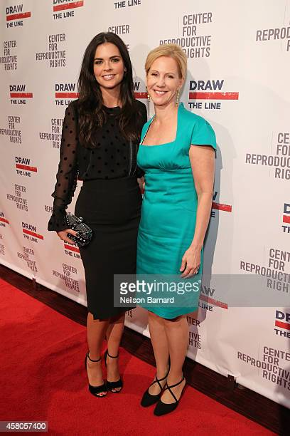 Author Katie Lee and President of the Center for Reproductive Rights Nancy Northup attend the Center for Reproductive Rights 2014 Gala at Jazz at...