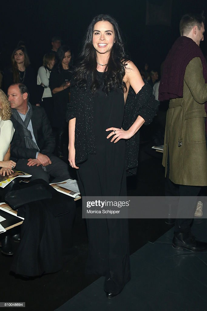 Author Katie Lee attends the Baja East Fall 2016 fashion show during New York Fashion Week: The Shows at The Dock, Skylight at Moynihan Station on February 13, 2016 in New York City.