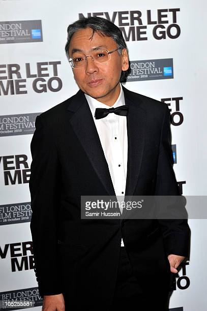 Author Kazuo Ishiguro attends the 'Never Let Me Go' afterparty during the 54th BFI London Film Festival at Saatchi Gallery on October 13 2010 in...