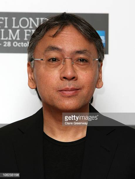 Author Kazuo Ishiguro attends the photocall for 'Never Let Me Go' on the first day of the 54th BFI London Film Festival at the Vue Cinema West End on...