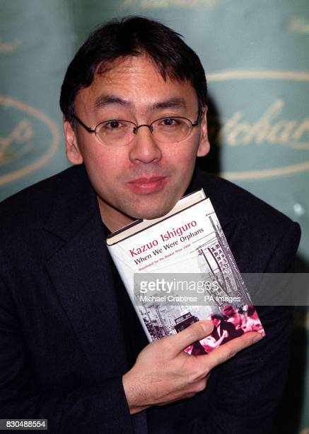 Author Kazuo Ishiguro with his book When We Were Orphans at Hatchards bookshop in Piccadilly central London The title is one of six shortlisted for...