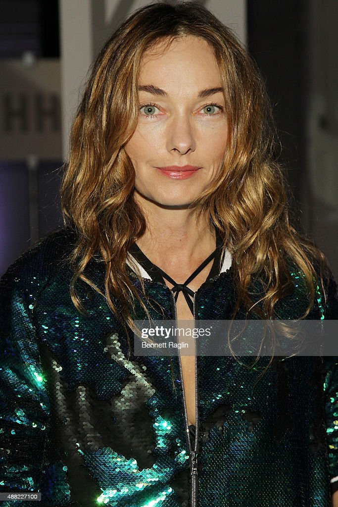 Author Kelly Wearstler poses for a picture on the front row at the Libertine fashion show during Spring 2016 New York Fashion Week: The Shows at The Gallery, Skylight at Clarkson Sq on September 14, 2015 in New York City.