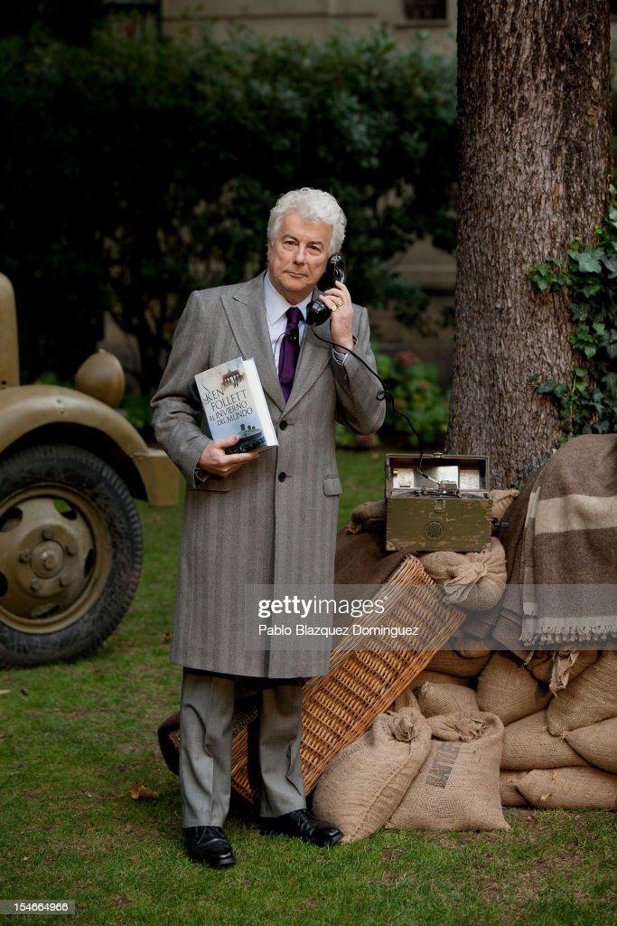 Author Ken Follett presents his historical novel 'El Invierno Del Mundo' (Winter Of The World) at the Italian Embassy on October 24, 2012 in Madrid, Spain.