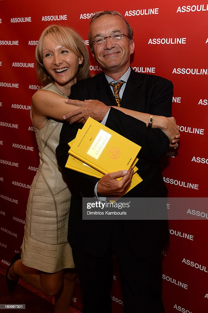 Author Ketty Pucci-Sisti Maisonrouge and Global Vice Chair of Dentons, Francois M. Chateau attend ASSOULINE, Martine and Prosper Assouline host a book signing for Ketty Pucci-Sisti Maisonrouge's 'The Luxury Alchemist' at Assouline at The Plaza Hotel on September 18, 2013 in New York City.
