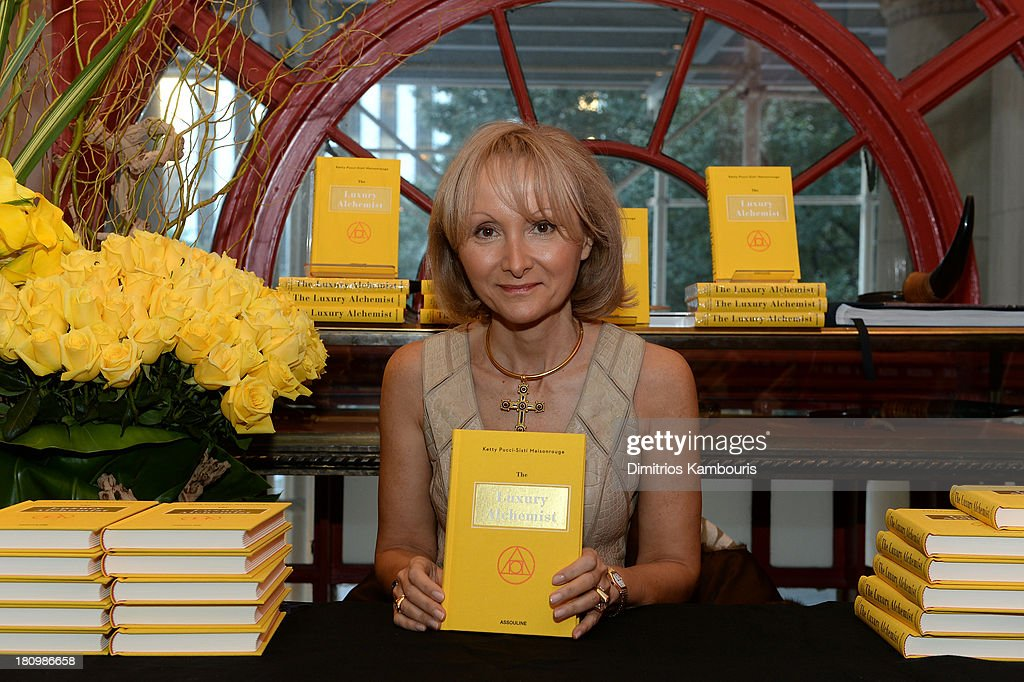 Author Ketty Pucci-Sisti Maisonrouge attends ASSOULINE, Martine and Prosper Assouline host a book signing for Ketty Pucci-Sisti Maisonrouge's 'The Luxury Alchemist' at Assouline at The Plaza Hotel on September 18, 2013 in New York City.