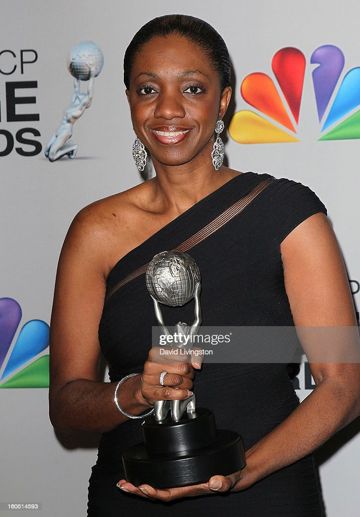 Author Kimberla Lawson Roby poses in the press room at the 44th NAACP Image Awards at the Shrine Auditorium on February 1, 2013 in Los Angeles, California.