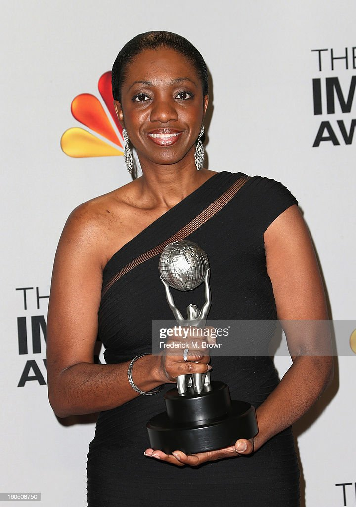 Author Kimberla Lawson Roby, winner of Outstanding Literary Work - Fiction, for 'The Reverend's Wife,' poses in the press room during the 44th NAACP Image Awards at The Shrine Auditorium on February 1, 2013 in Los Angeles, California.