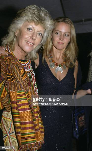 Author Kuki Gallmann and daughter Sveva at premiere party for the movie 'I Dreamed Of Africa' at Tavern on the Green Gallmann is the author of the...