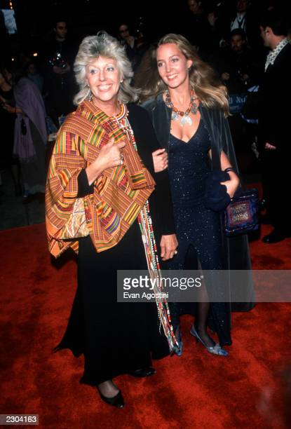 Author Kuki Gallmann with daughter Sevea at the world premiere of 'I Dreamed Of Africa' at Sony Theatres Lincoln Square in New York City 4/18/00...