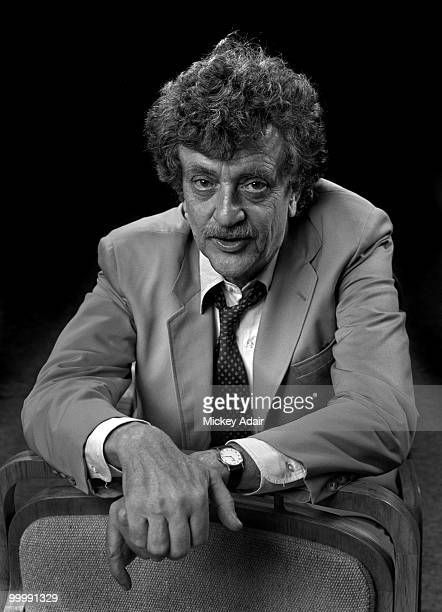 Author Kurt Vonnegut poses at the Turnbull Conference Center on the campus of Florida State University after a Distinguished Lecture Series speech in...