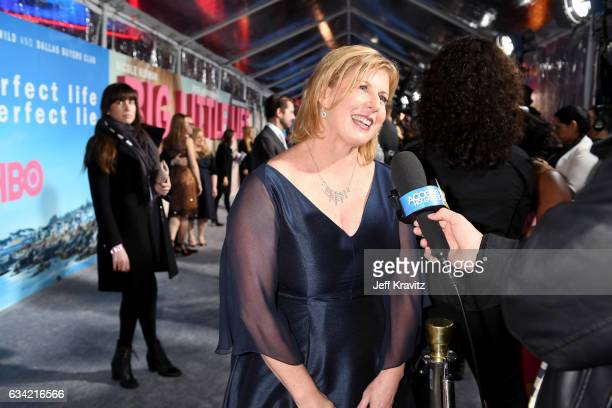 Author Liane Moriarty attends the premiere of HBO's 'Big Little Lies' at the TCL Chinese Theater on February 7 2017 in Hollywood California