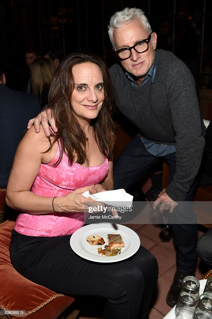 Author Liz Tuccillo and John Slattery attend the after party for the New York premiere of 'How To Be Single' at the Bowery Hotel on February 3 2016...