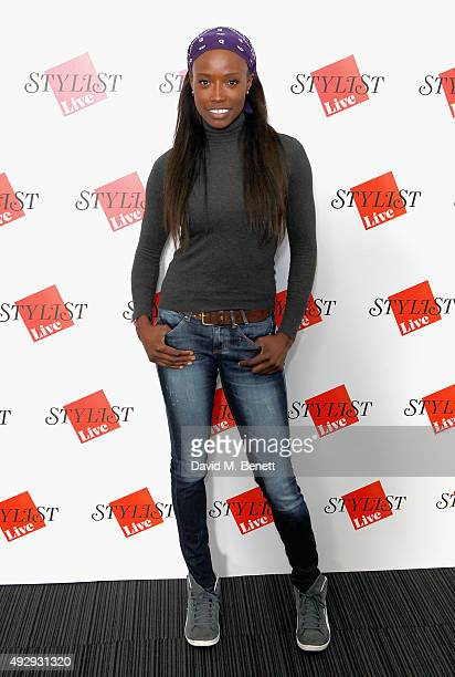 Author Lorraine Pascale attends day two of Stylist Magazine's first ever 'Stylist Live' event at the Business Design Centre on October 16 2015 in...