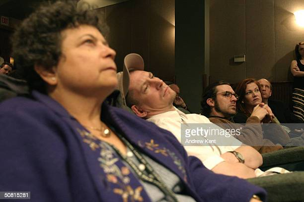 Author Lynne Elkin Ian Hart Paul Schneider and actress Haviland Morris listen at the Unraveling The Code Rosalind Franklin and DNA panel during the...