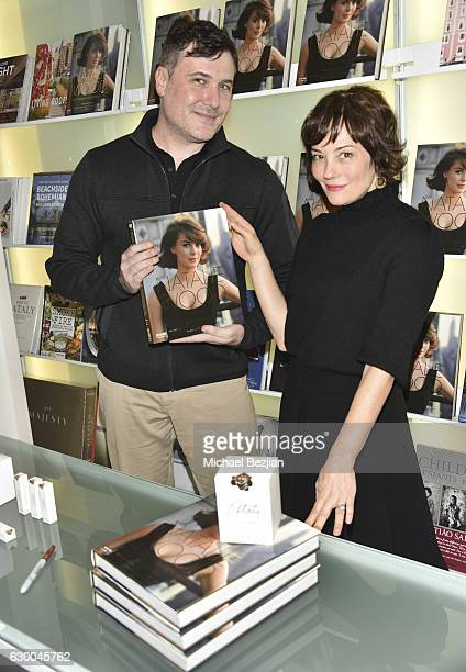 Author Manoah Bowman and actress Natasha Gregson Wagner attend a Holiday Shopping Benefit for The National Young Arts Foundation at Ron Robinson on...