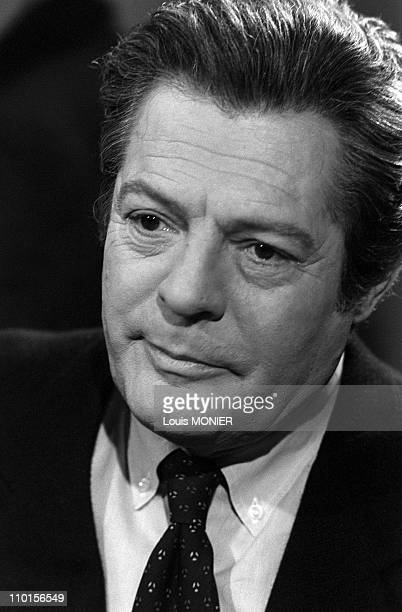author Marcello Mastroianni in the Apostrophes in Paris France on April 13 1984